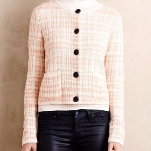 Knitted & Knotted Plaid Boucle Cardigan Size S